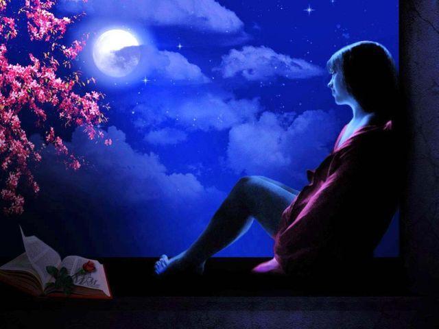 Thơ cô gái buồn trong đêm