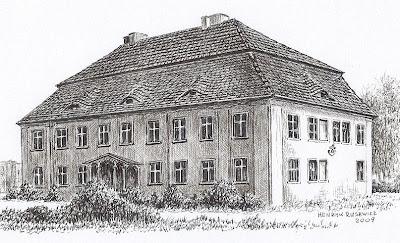 Dwór w Oborze Średniej – stan przed 1945 r.