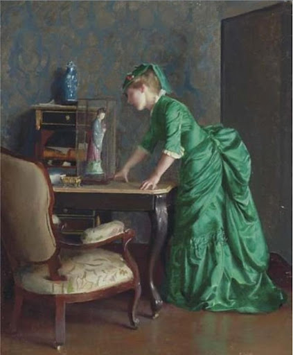 William McGregor Paxton - The Green Dress