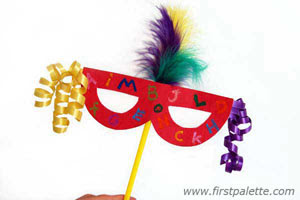 Kid kapers mardi gras masks for Mardi gras masks crafts