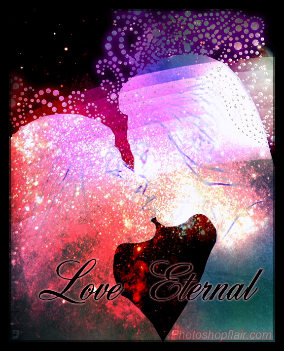 """Love Eternal""  - Graphic Art Design By China Alicia Rivera  www.photoshopflair.com"