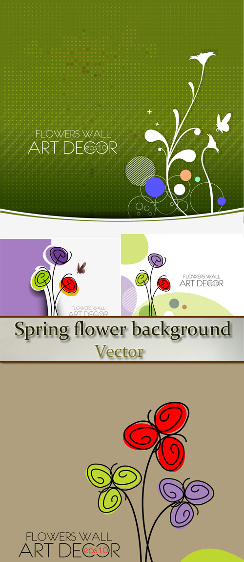 Stock: Spring flower background