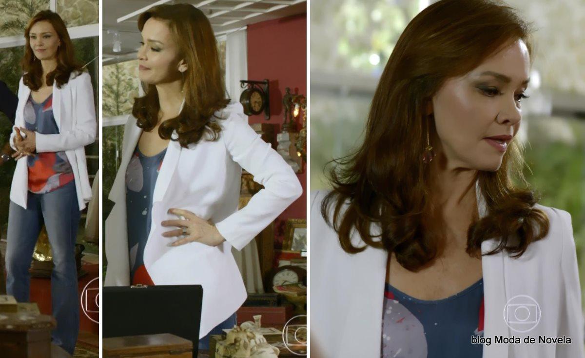 moda da novela Em Família - look da Helena dia 18 de junho