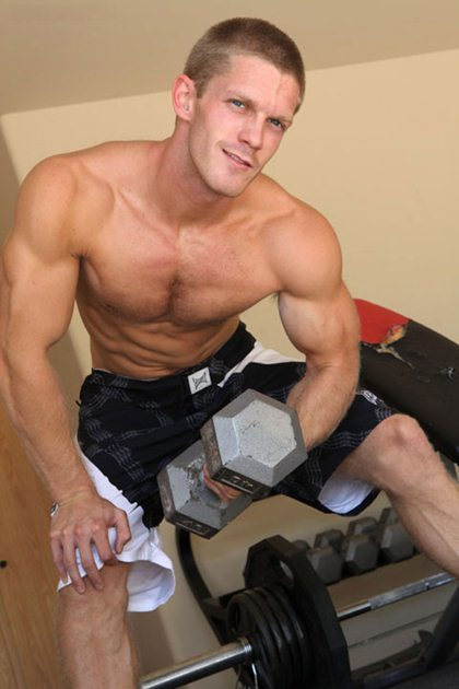 Muscle Jock Workout and Webcam Video