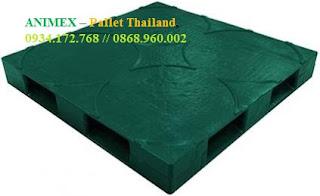 Pallet nhựa chứa thùng nhập khẩu