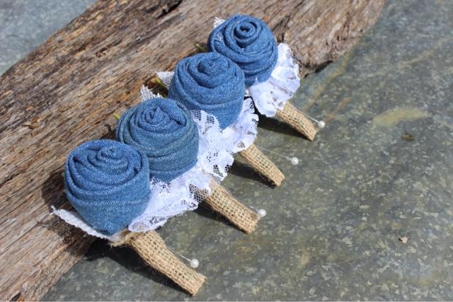 denim, burlap, and lace wedding