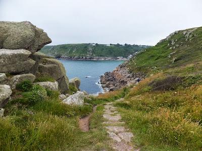 Carn-du looking back towards Lamorna Cove