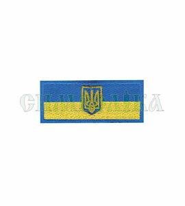 Прапорець синьо-жовтий 8х3 см