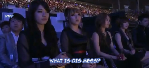Miss A...unimpressed | @ the 2011 MAMA's