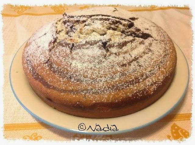 torta variegata al cacao e vaniglia