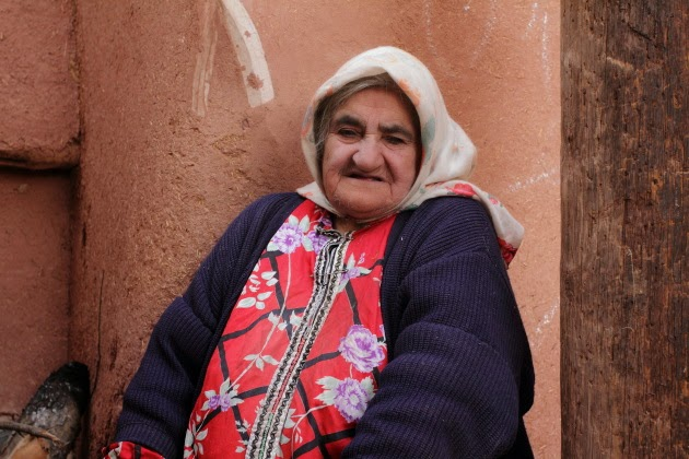 Portrait of Old Lady from Abyaneh, Iran