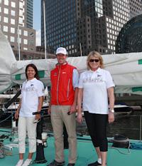 Martha Stewart (r) sailing with Hannah Swett (l)