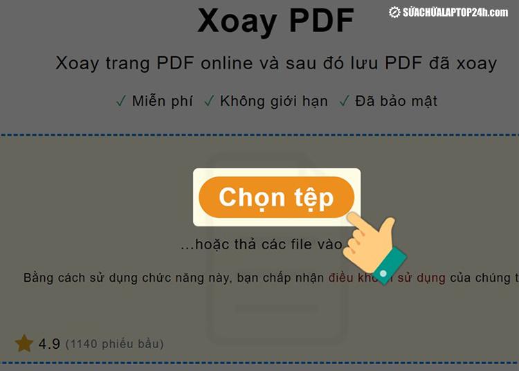Click chọn tệp