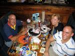 Dad, Pat and me at Joe's Crab Shack
