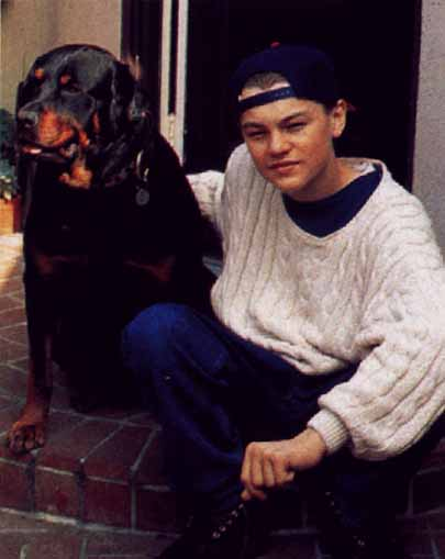 Leonardo DiCaprio and a dog 3