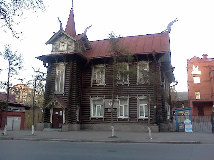 Старинные домики Томска