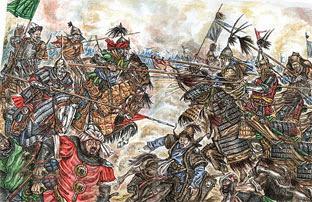 Бой монголов