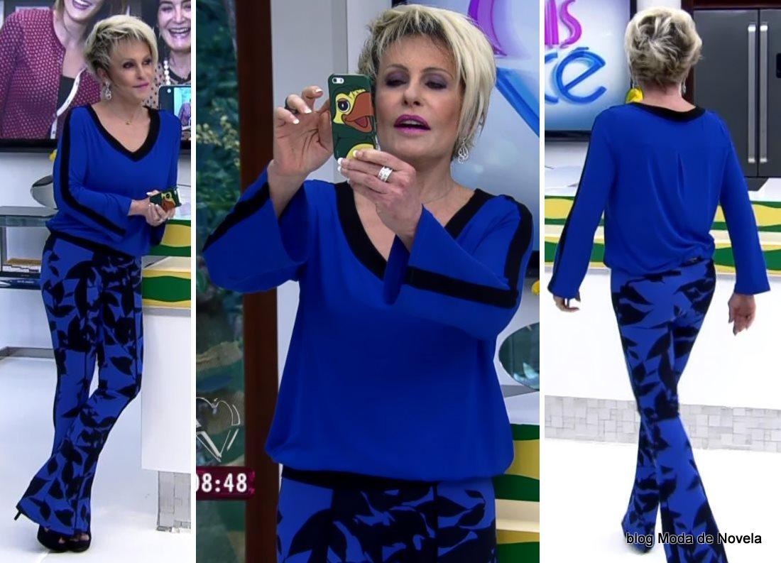moda do programa Mais Você - look da Ana Maria Braga dia 3 de julho