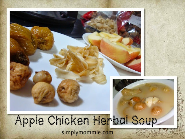 apple chicken herbal soup