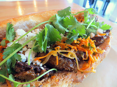 Lardo, chefwich, Scott Snyder, Levant, Morroccan Lamb Meatball and black olive mayo, harrisa carrot slaw, feta