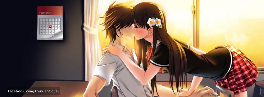 Ảnh bìa hoạt hình hôn nhau
