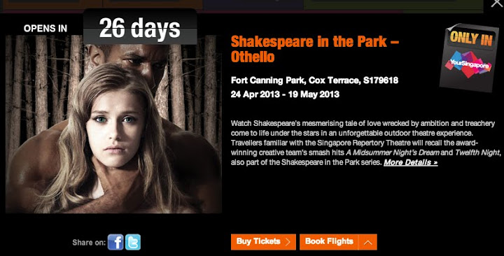 Shakespeare in the Park happening in Singapore