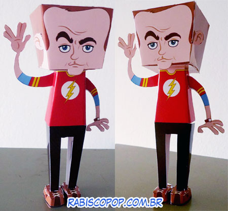 Big Bang Theory Sheldon Cooper Papercraft Flash