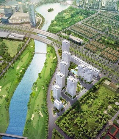 Vị trí đắc địa lần đầu tiên đối diện sân Golf của dự án Happy Valley là yếu tố lấy điểm của dự án