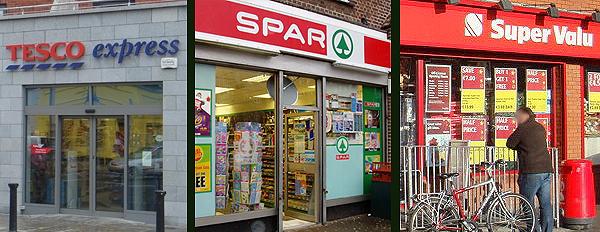 Supermarché à Dublin