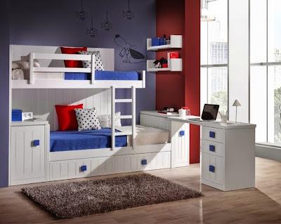 Dormitorios juveniles camas tren for Habitaciones con dos camas