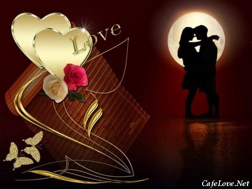 Hình ảnh hai người yêu nhau lãng mạn dưới đêm trăng thanh