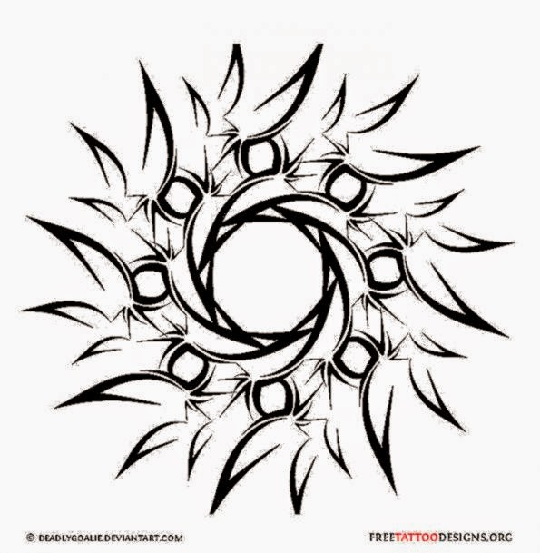 Tribal Sun Tattoos on Pinterest