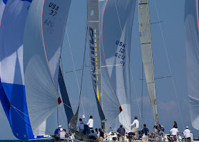 J/111 sailboats- sailing downwind