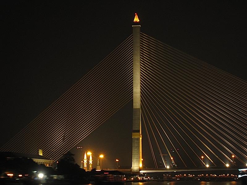 Rama IX Bridge in Bangkok, Thailand