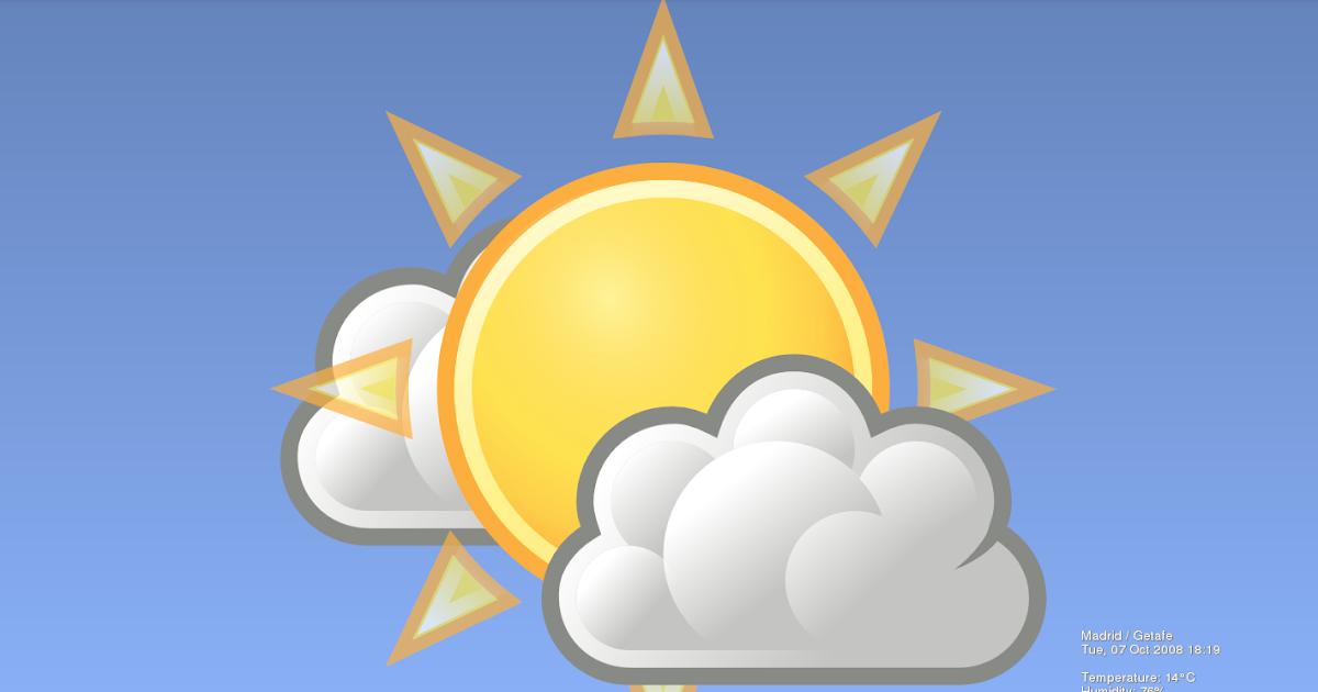 Un bruto con debian el tiempo en tu escritorio weather wallpaper - El tiempo en tu escritorio ...