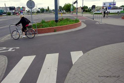Krzyżówka dwóch dróg dla rowerów