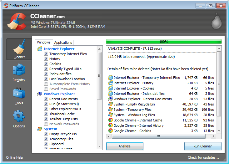 Screenshot of CCleaner v.4.04.4197 System Utility PC Software Free Download at Alldownloads4u.Com