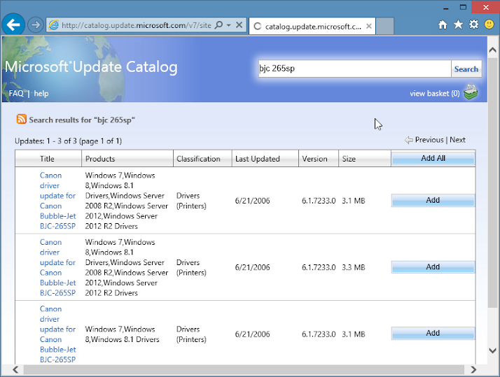 How to Access Microsoft Update Catalog with Internet Explorer/IE 11 in Windows 10 Tech. Preview