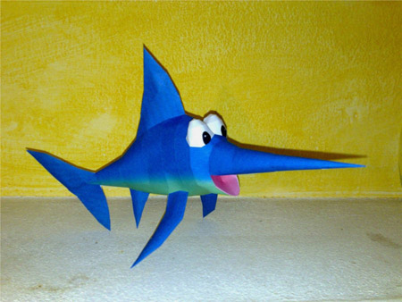 Enguarde the Swordfish Papercraft