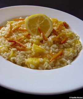 Orangen-Zitronen-Risotto