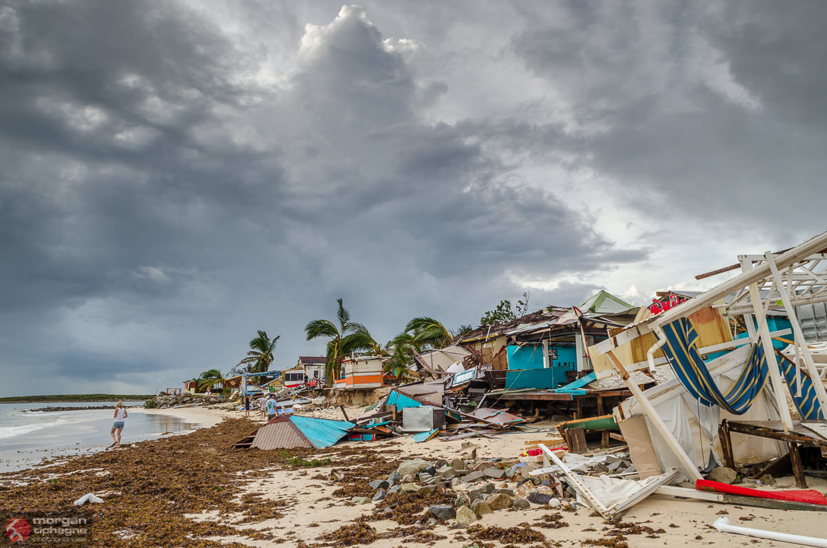Heavy Damage Caused By Hurricane Gonzalo On Saint Martin Sint Maarten In Th