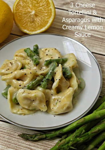 Three Cheese Tortellini & Asparagus with a Light Creamy Lemon Sauce #BackToBalance