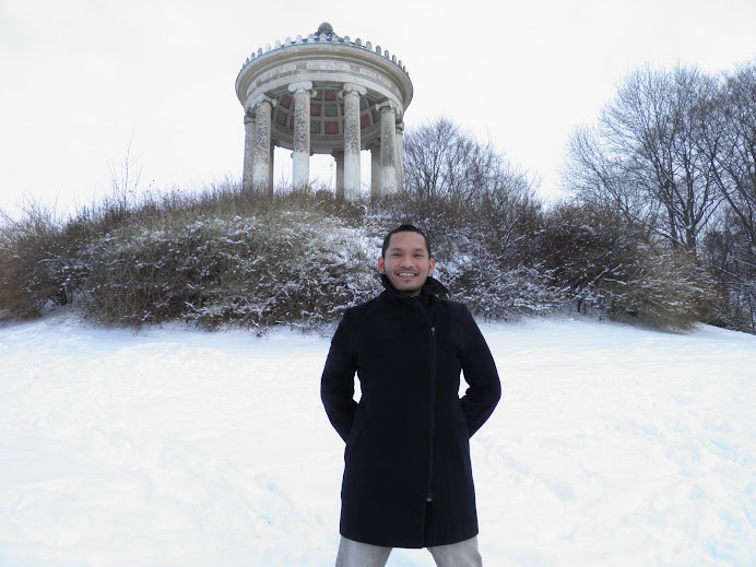 Dr. Earl Juanico in the English Garden in Munich, Germany