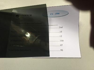 Mẫu phim cách nhiệt UV 1599 Nano Film
