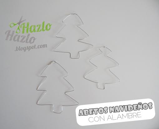 Cómo hacer árboles de Navidad con alambre.