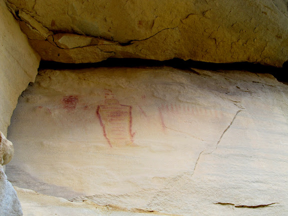Red and yellow pictographs