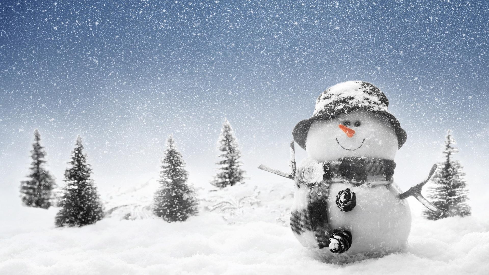 Winter Snowman Mystery Wallpaper
