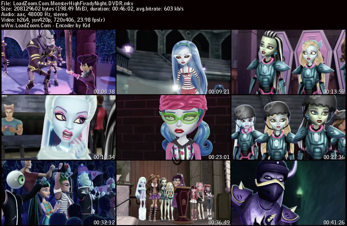 movie screenshot of Monster High: Friday Night Frights fdmovie.com