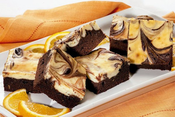 Brownie Mesclado de Laranja