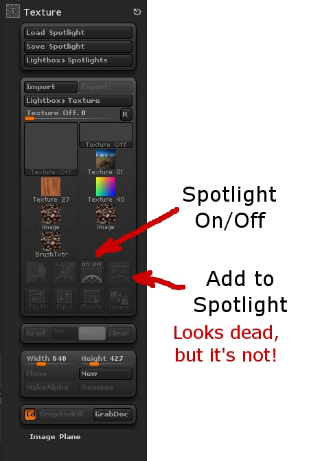 Image showing Spotlight Buttons